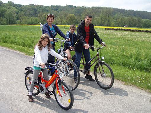 Radtour der Familie Koch in Lutzmannsburg im Mittelburgenland