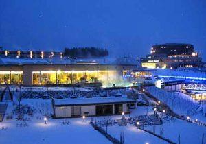 Reiters Familientherme Stegersbach schneebedeckt