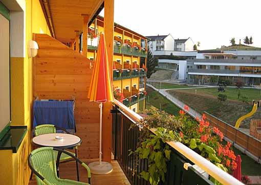 Therme Stegersbach Blick vom Balkon Hotel Puchasplus