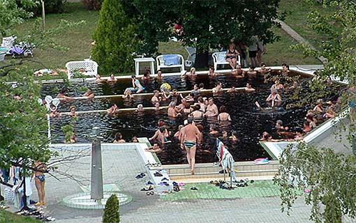 Heilsame Kur in Thermalbad Von Oroshaza in Ungarn