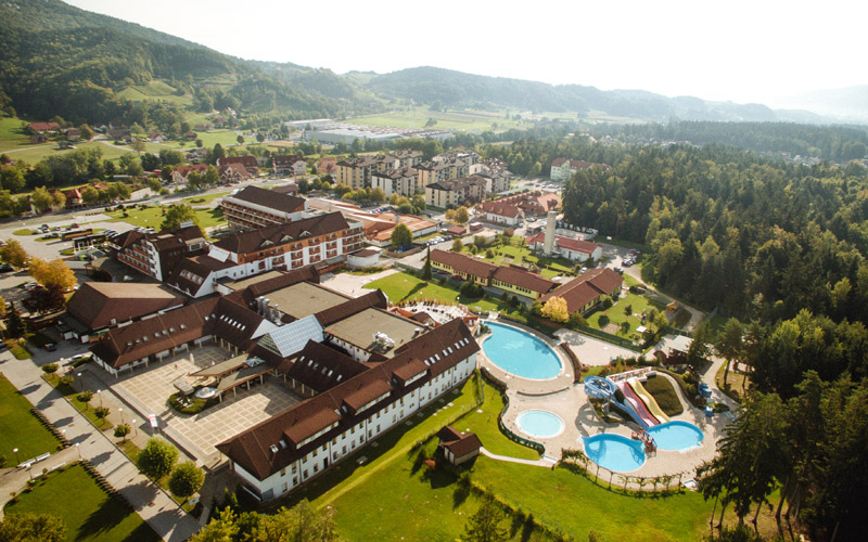 Panoramablick Therme Zrece